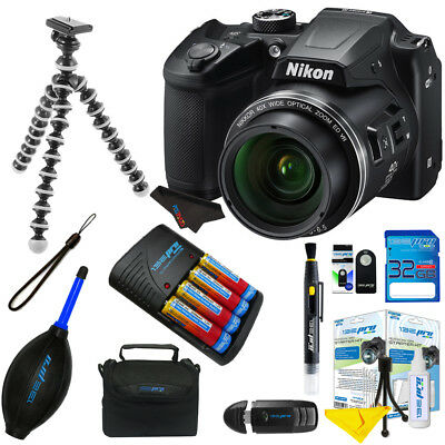 Nikon COOLPIX B500 Digital Camera (Black) Bundle + Pixibytes Accessory Bundle