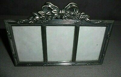Arts And Crafts Small Triple Frame Picture Holder