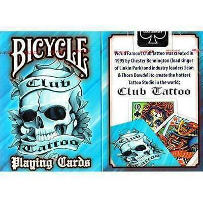 Mazzo di carte Bicycle Club Tattoo Blue playing cards