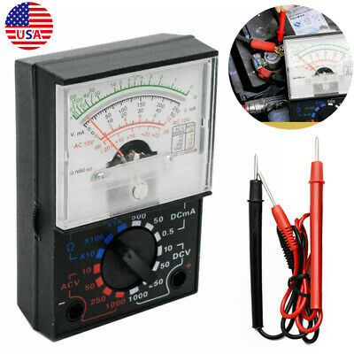 Analogue Multimeter AC DC Volts Ohm. Electrical Circuit Multi Tester Kit Tool