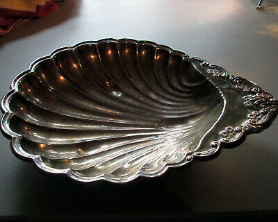 VTG Shell Shaped Sterling Silver Serving Dish Candy Dish Fruit Bowl Scalloped
