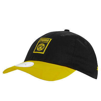 Puma Official Mens BVB Borussia Dortmund DNA Cap Football Fans Hat Black