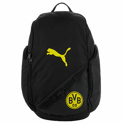 Puma Official Mens BVB Borussia Dortmund Football Fans Backpack Rucksack Black