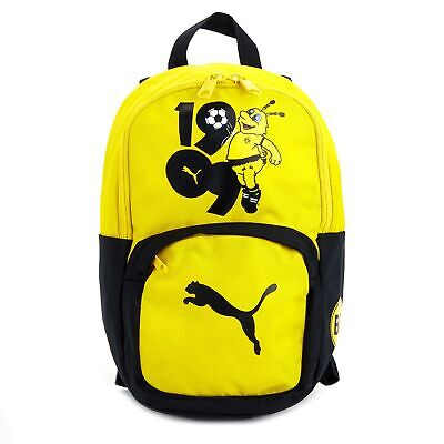 Puma Official Mens BVB Borussia Dortmund Football Fans Backpack Rucksack Yellow