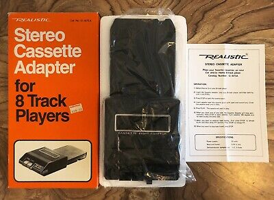 REALISTIC Vintage Stereo Cassette Adapter for 8 Track Players