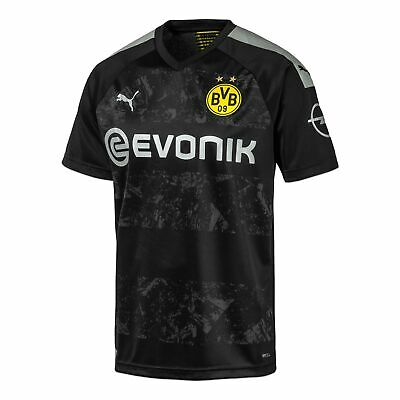 Puma Official Kids BVB Borussia Dortmund Away Football Shirt Jersey Top 2019-20