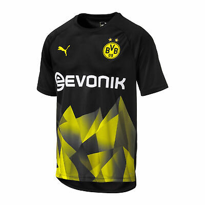 Puma Official Kids BVB Borussia Dortmund Stadium Football Jersey Shirt Top Black
