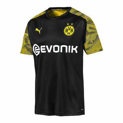 Puma Official Mens BVB Borussia Dortmund Football Training Jersey Shirt Black