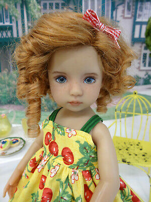 """Cherry Pickin' - dress, tights & shoes for 13"""" Effner Little Darlings Doll BJD"""