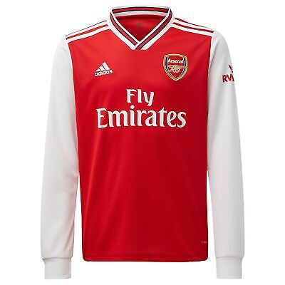 adidas Official Kids Arsenal FC Home Football Shirt Jersey 2019-20 Long Sleeve