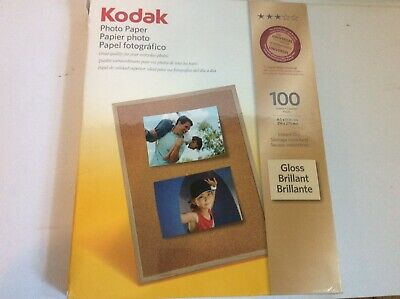 "Kodak Photo Paper Gloss 8.5""x11"" 100 Sheets Instant Dry"