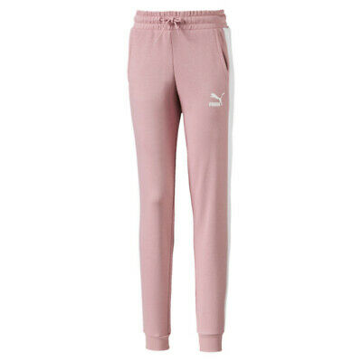 Puma Classics T7 Knitted Girls Kids Sweatpants Track Bottoms Pink Rose Bnwt New