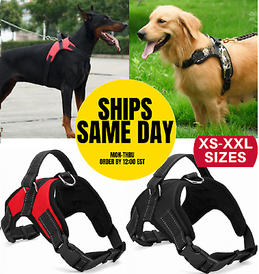 No Pull Dog Pet Harness Adjustable Control Vest Dogs Reflective S M Large XXL