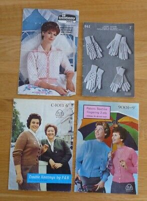 Four Vintage Womens Knitting Patterns