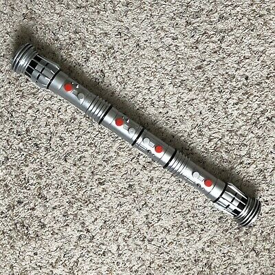 """Star Wars Darth Maul Double Sided Lightsaber Toy 63"""" 2011 Hasbro"""