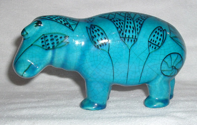 WILLIAM Egyptian Hippo Blue Pottery Metropolitan Museum Art *ITALY #A2850
