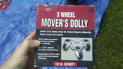 Haul Master Movers Furniture Dolly 6 Inches 4 Pack by Haul Master 3-wheel