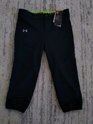 Under Armour Heat Gear Girls Leggings  Activewear  YLG Black