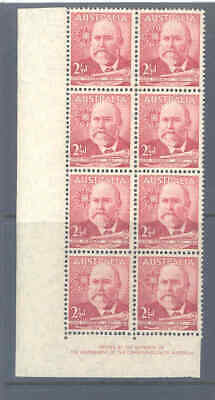 Australia Predecimal 1949 Lord Forrest Large Imprint Block Very Fine Mnh