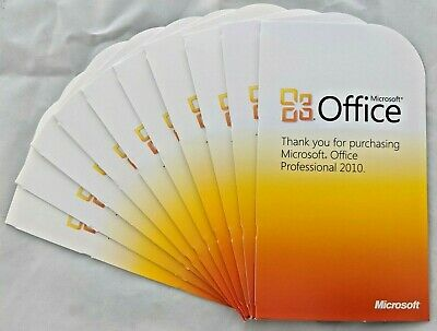 Microsoft Office Professional 2010 - 10 Pack - 10 Licence Keys