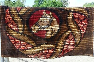 Antique STROOCK BLANKET Buggy Carriage Sleigh Palomino Horse Lap CELTIC CIRCLE