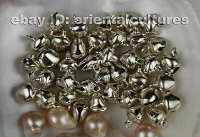 Tribal exotic chinese handmade miao silver small bells  10pair