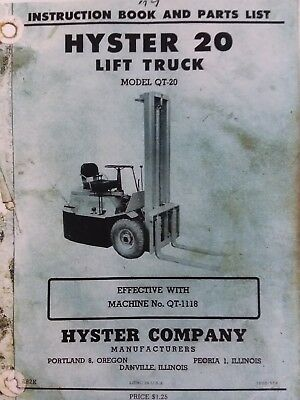 HYSTER FORKLIFT PARTS Manual E70 80 100 120XL (852410