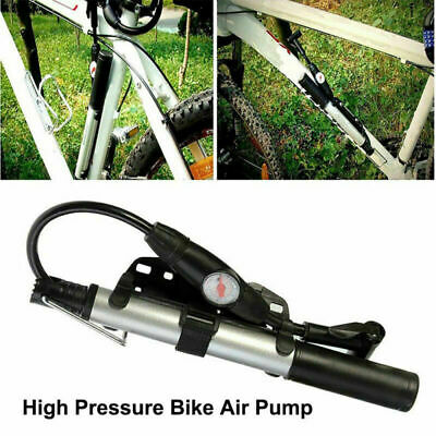 Portable High Pressure Alloy Bicycle Bike Air Pump +Gauge Presta&Schrader 2019 @