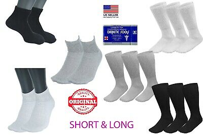 1 3 6 12 24 Pairs Men's Circulatory Diabetic Crew Socks Size 9-11 10-13 13-15