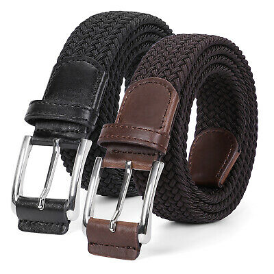 JASGOOD Braided Elastic Belt for Men/Women/Junior Pants Canvas Stretch Belts 344