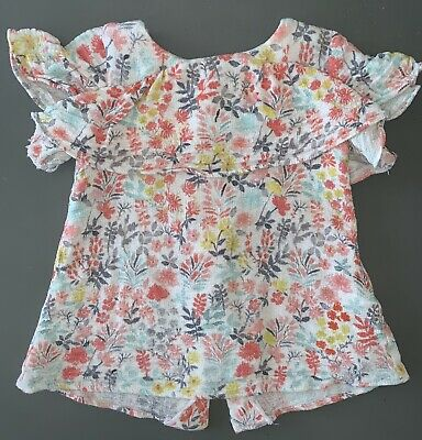 Zara Baby 6-9m Floral Blouse Top