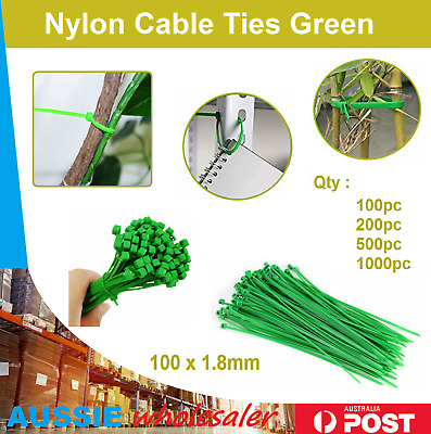 Au 100/200/500/1000pc Cable Ties Zip Ties Nylon Home Green Bulk Garden