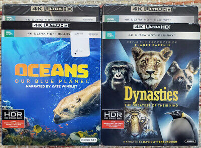 New Sealed Dynasties + Oceans 4K Uhd + Blu-Ray Bluray Bbc Earth Attenborough