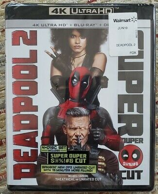 Marvel Deadpool 2 4K + Bluray Mint Free Shipping Avengers Disney Blu-Ray