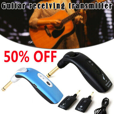 2.4GHz Wireless Guitar System Transmitter A9 Receiver Built-in Rechargeable NEW!