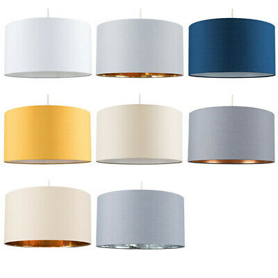 Extra Large Easy Fit Fabric Drum Ceiling Pendant / Table Lamp Light Shades