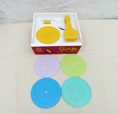Fisher  Price Music Box Record Player  Avec 4 Disques