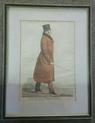 A Fine Pair Of Early 19th Century Signed Hand Painted Richard Dighton Etchings