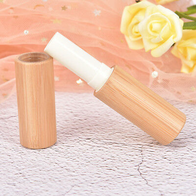 1pc Bamboo Empty Lip Gross Container Lipstick Tube DIY Container Lip Balm Tub~GN
