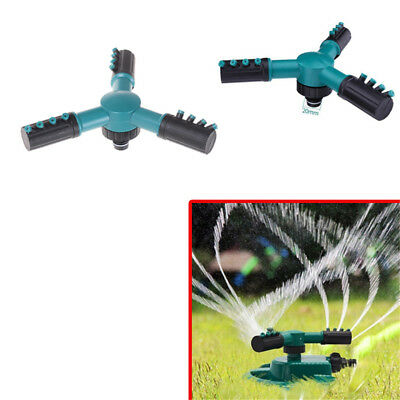 1PC Garden Lawn Sprinkler Head 360° Circle Rotating Water Sprinkler 3 Nozzle~GN