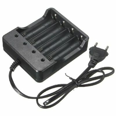Eu Plug 4Slots Battery Charger With Protection 18650 Lithium-Ion Battery~GN
