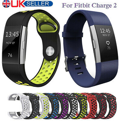 Soft Silicone Replacement Spare Sport Band Bracelet Strap for Fitbit Charge 2 UK