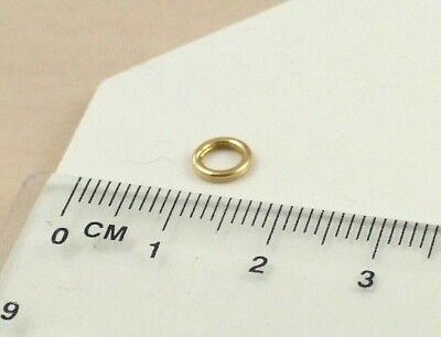 Solid Heavyweight 9ct 375 Yellow Gold 6mm Split Ring (Packet of 3)
