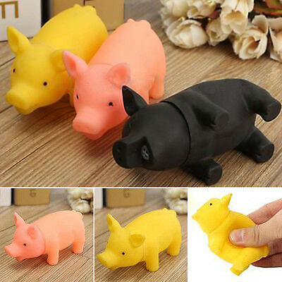 About rubber Pet Dog Puppy Pig Shape ChewFetch Play Toy Squeaker Squeaky Soun~GN