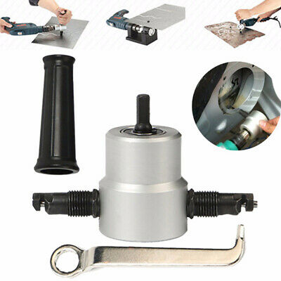 Cutting Double tête Feuille Grignoteuse Trou Scie Cutter Drill Outil S'attaquer