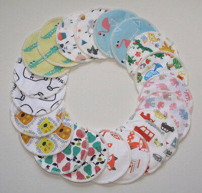 Reusable Cloth Bamboo Breast Pads, Gift Wrapped Sets of 6 or 10 FREE P&P! *UK*
