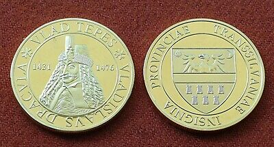 Vlad the Impaler from Transylvania Coin with Count Dracula Medal Vlad Tepes