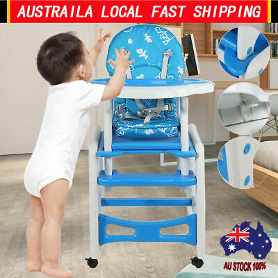 Durable 3 in 1 Multi-Function Baby Toddler High Chair Adjustable Safe Play Table