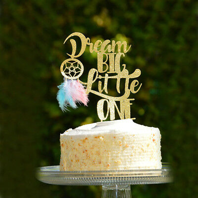 dream big little one dream catcher cake topper for wedding party decor supply~GN