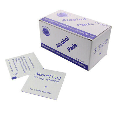 100Pcs/lot Alcohol Swabs Pads Wipes Cleanser Cleaning Sterilization First Aid~GN